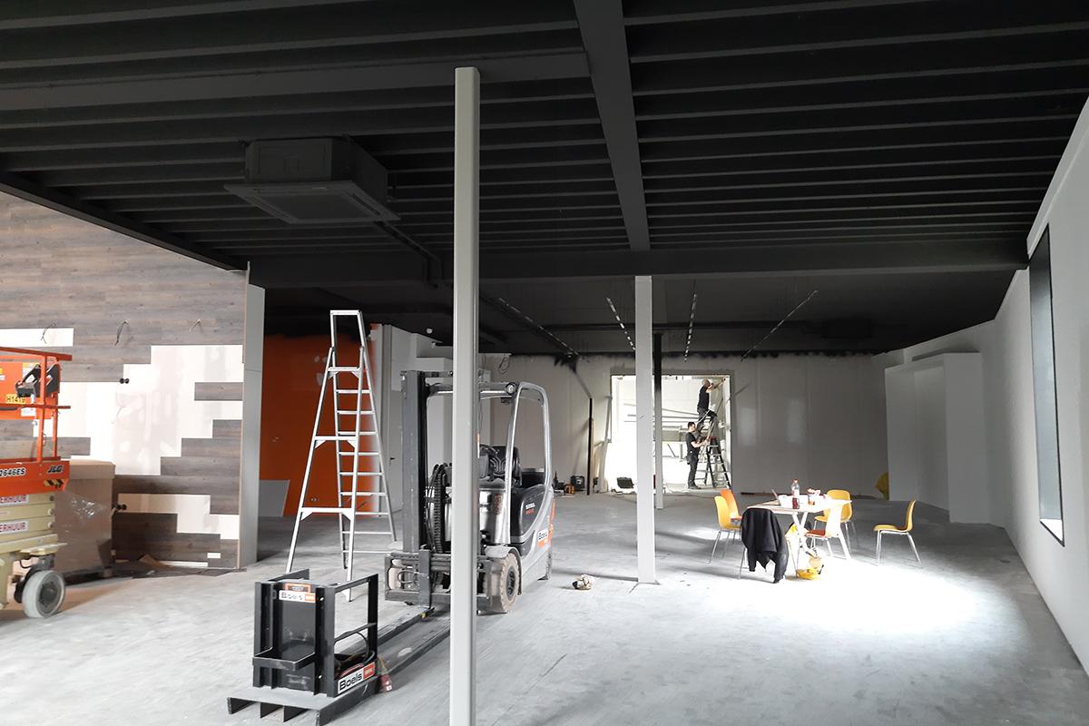 Plafond/ wanden spuiten/ coaten
